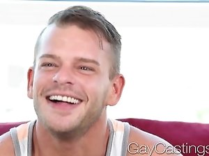 HD  GayCastings Flirty dick sucker takes dick
