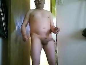 Naked mature gay posing solo