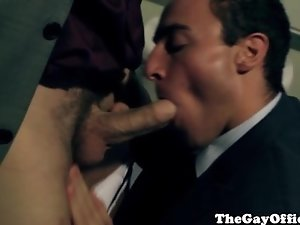 Office sex gay hunks suck and assfuck