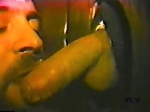 Sucking trucker cock at the Gloryhole