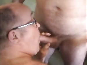 Cum eating dad