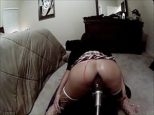 machine pounds sissy boi doggy style