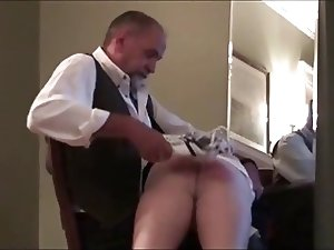 Hot daddy spank her boyfriend (6 clips)